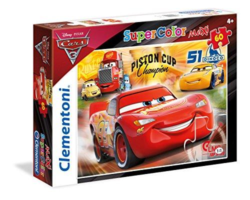 Clementoni - 26424 - Supercolor Puzzle - Cars 3 - 60 Maxi Pezzi