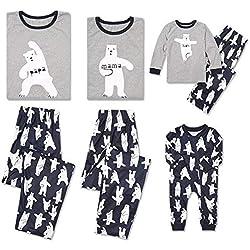 Loalirando Pijamas Familia de 2 Piezas Sets de Pijamas para Navidad Fiestas Entrega de Regalo de Padres y Niños