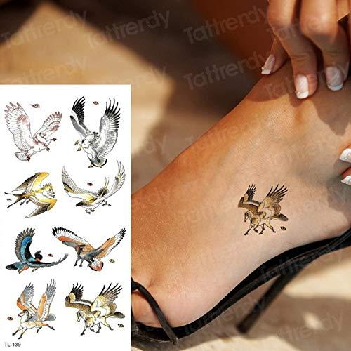 autoadesivo del tatuaggio per le donne tatuaggi di lunga durata modello impermeabile tatuaggi aquila...