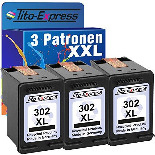 PlatinumSerie® 3 Druckerpatronen remanufactured für HP 302 XL Black mit Füllstandsanzeige und 135{97bdf84fc5f40f1d084de61cffcb2517e6f10dc2ca5e979b1183722f1c0288cb} mehr Inhalt! Für HP OfficeJet 4650 4650 Series 4654 4655 4656 4657 4658