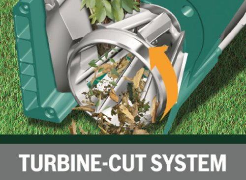 The new cutting system is designed to shred both hardwood materials such as hedging, trees, shrubs as well as soft green material. Most other shredders are unable to do this which makes this model a true multi-purpose shredder which can be used for a large range of garden waste.