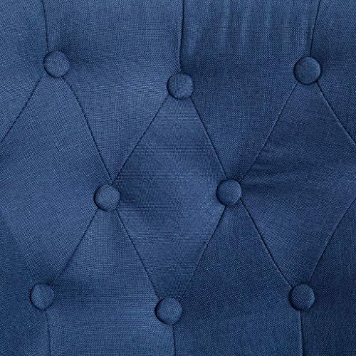 vidaXL 2X Poltrona Francese Stile Classico Tessuto Crema Sedia con Braccioli