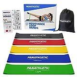 Bandes Élastiques de Résistance / Bandes Musculation, avec Guide d'Exercices, eBook en Français et Sac de Transport, Set de 5 Bandes - 5x bande elastique pour fitness, yoga, pilates, crossfit