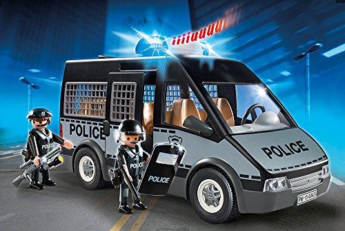PLAYMOBIL 6043 – Polizei-Mannschaftswagen mit Licht und Sound - 2