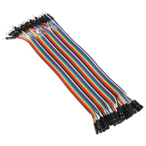 510RIel7PAL - Bheema 40 cables de puente macho a hembra para Arduino, 20 cm