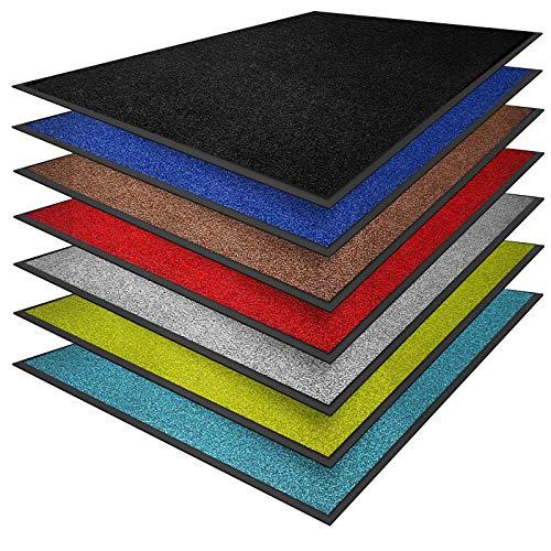 casa pura® Premium Fußmatte in attraktiver Optik   Schmutzfangmatte in vielen Größen   schwarz   90x150cm