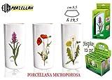 Euro Porzellan evaporador Nizza 5Botanic flores humidificador con gancho, porcelana, varios colores, 30x 8,5x 19,5cm)