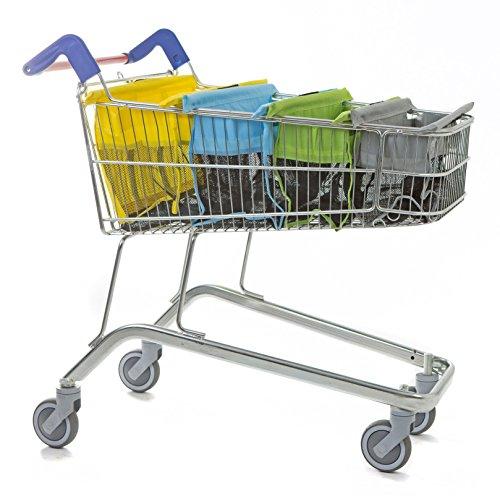 Trolley Bags Borse Express per Carrello della Spesa, Colori Pastello