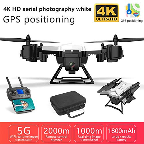 KY601G Pieghevole RC Drone, 6 Canali 2,4 GHz WIFI FPV Drone Con 4k HD Live Video, RC Quadcopter Per Adulti Ed Esperti, One Key Take Off/Landing, Follow Me, Altitude Hold E 5G WiFi Trasmissione