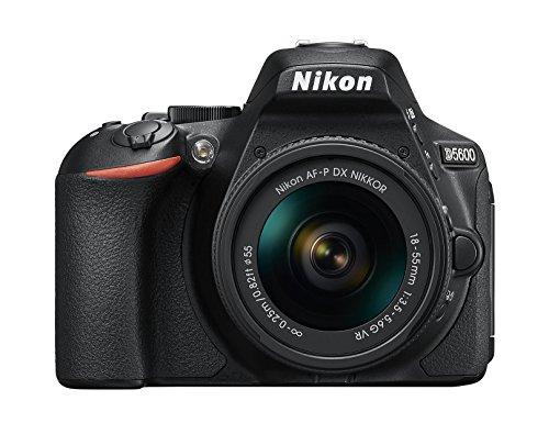 "Nikon D5600 - Cámara réflex de 24.2 MP (pantalla táctil de 3"", Full HD) color negro - kit con objetivo AF-P DX 18-55 mm VR"