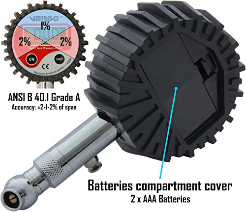 vergo jauge digitale de pression des pneus manom tre digital pour pneus de voiture auto camion. Black Bedroom Furniture Sets. Home Design Ideas