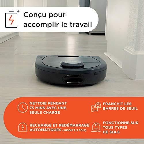 510i83UnfKL [Bon Plan Neato] Neato Robotics D402 Connected - Compatible avec Alexa - Robot aspirateur avec station de charge, Wi-Fi & App