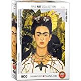 "Eurographics ""Frida Kahlo Autoritratto con Spine Collana e Colibrì Puzzle (1000-Piece, Multi-Colour)"