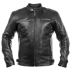 WM FASHION Leather Jacket Herren Lederjacke,Motorbike Leather Jacket,Bikerjacke Motorrad Lederjacke Fashion Jacket 2
