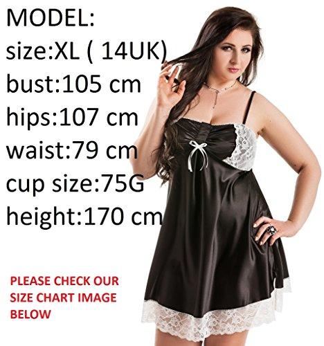 e9e4bb6f0ef Nine X- Plus Size Lingerie S-6XL Satin Pyjamas Long Sleeve Nightwear ...
