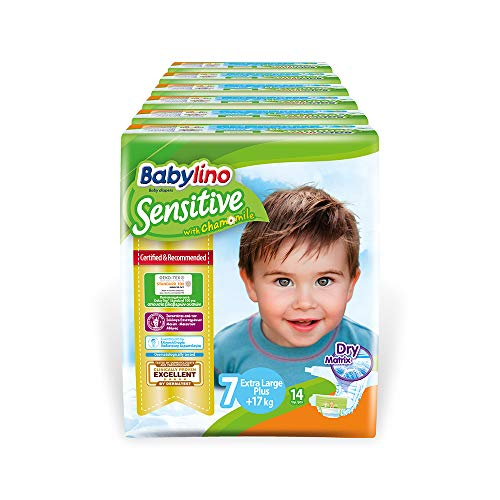 Babylino Sensitive Extra Large Plus, 84 Pannolini Taglia 7 (17+Kg)