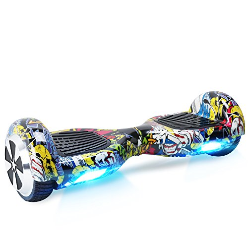Windgoo Overboard - Enfant Super Cadeau, 6.5' Hoverboard Tout Terrain Adulte Balance Board, Pas Cher LED Skateboard, Basic Challenger Gyropode