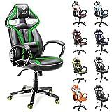 Diablo X-Gamer Racing Sport seduta sedia Sport Racer girevole sedia scrivania ufficio sedia (nero-verde)