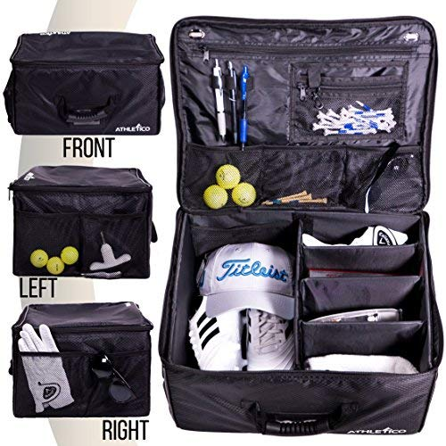 Athletico Golf Trunk Organizer Storage - Car Locker to Store Accessories | Collapsible When Not in Use