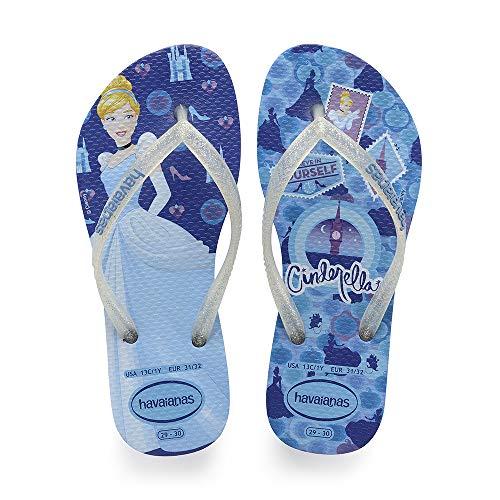 Havaianas Kids Slim Princess, Infradito Unisex Bambini, Multicolore (Blue Star 3847), 31/32 EU