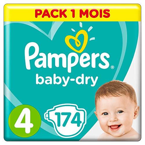 Pampers Baby-Dry, Pannolini, Taglia 4 ( 9-14 kg), Confezione da 174 pezzi