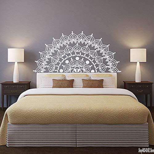 Mandala Adesivo da parete Adesivo rimovibile Adesivo Camera da letto Decorazione Mezza Mandala Art...