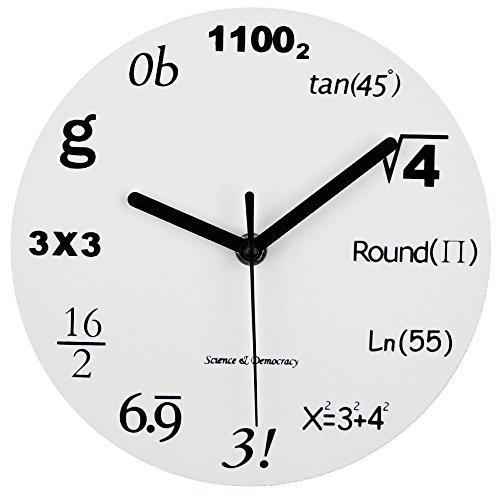 Timelike, orologio da parete moderno, design unico, matematica, equazione, ogni ora è...