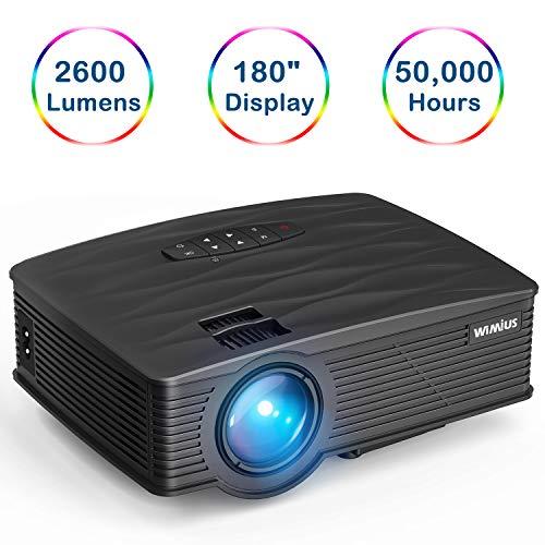 Videoproiettore,WiMiUS TK1000 Mini Portatile Proiettore Full HD 2600 Lumen LED Supporto HDMI 1080p...