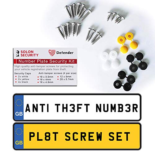 Defender Anti-Theft Registration Number Plate Fixing Kit - UK Police Approved