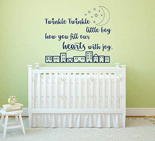 Twinkle Twinkle Little Boy, how you fill our hearts with joy Citazione, autoadesivo di arte della...