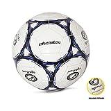 Optimum Classico Football/Soccer Ball, Black/Blue - Size 5