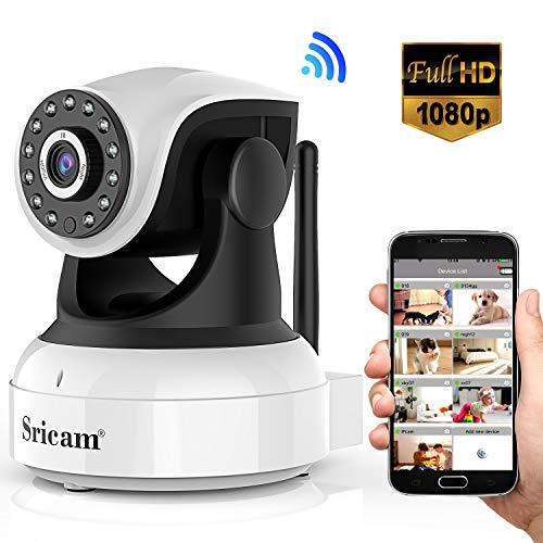 Sricam Ultima Versione SP017 Telecamera WiFi Interno di Sorveglianza 1080P Wireless IP Camera,...