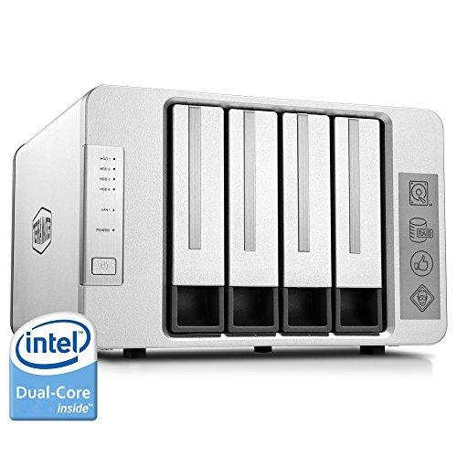 TerraMaster F4-220 NAS Drive 4-Bay Intel Dual Core 2.41GHz 2GB RAM PLEX DLNA Media Server Personal...