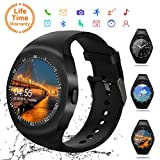 Smart Watch,Bluetooth Smartwatch Touch Screen Wrist Watch with Camera/SIM Card,Waterproof Phone Smart Watch Sports Fitness Tracker for Android iPhone IOS Phones for Kids Women Men