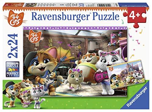 Ravensburger 05012 44 Gatti Puzzle, 2 x 24 Pezzi