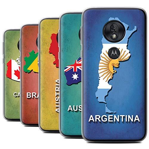 eSwish Coque Gel TPU de Coque pour Motorola Moto G7 Play/Pack 28pcs / Drapeau Pays 22