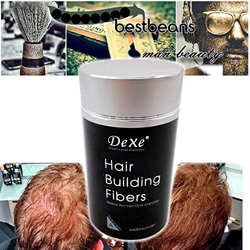 [Einführungs Angebot] bestbeans Younger Schütt-Haar 22g Haarverdichtung & vollem Haar in Sekunden natürlicher Look - Streuhaar Ansatz-Kaschierung Haarausfall Glatze (dunkelbraun)