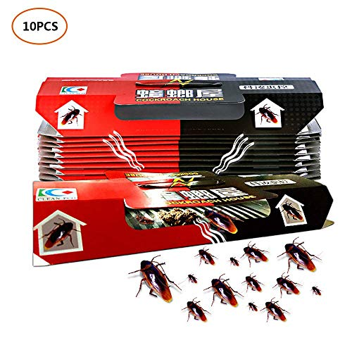 Farbenme, confezione da 10 trappole per blatte e scarafaggi in carta appiccicosa, ideali per la cucina domestica e l'ufficio
