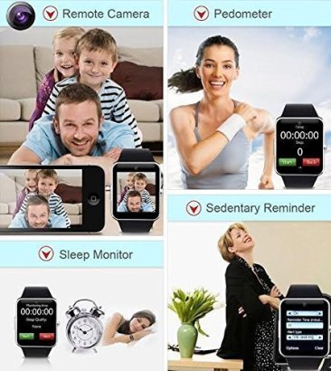 Jokin Bluetooth Smart Watch with Camera & SIM Card Support for Android and iOS Smartphones 6