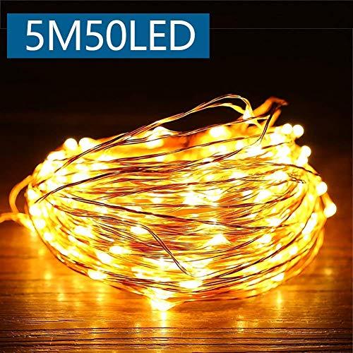 Catena luminosa stringa luci led con batteria,luci led filo rame, bianco caldo, illuminazione...