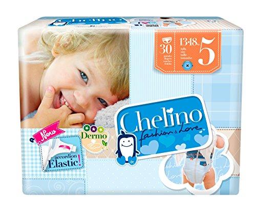 Indas Chelino Fashion & Love Junior Pannolini, Confezione da 30 Pannolini, Taglia 5