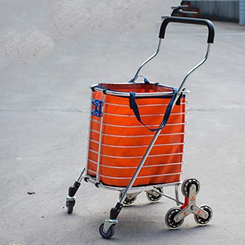 XF Carrello portapacchi pieghevole a rotelle con carrello girevole leggero da 8 ruote carrello di...