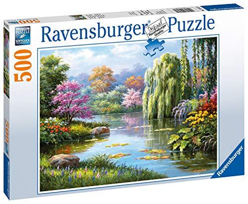 Ravensburger 14827 Vista Romantica dello Stagno Puzzle, 500 Pezzi