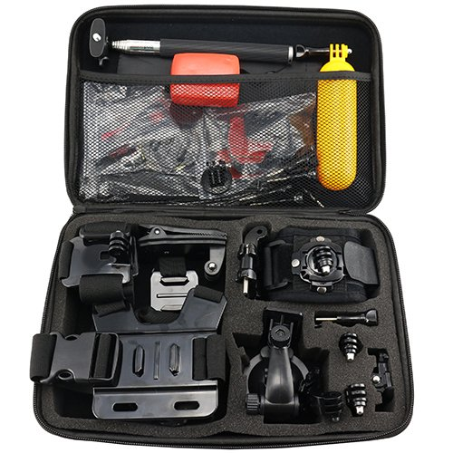 Star TT-CB01 - Kit de Accesorios para cámaras Deportivas, Color Negro