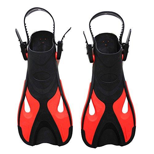 Ouqian Nuoto Pinne Pinne da Sub Pinne Pinne da Bagno Snorkeling per Nuotare Snorkeling Acquatico Nuoto Flippers (Colore : Red, Size : S M 24-29 US 9-13)
