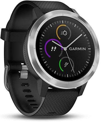 Garmin Vivoactive 3 Smartwatch con GPS, Unisex adulto, Nero/Argento