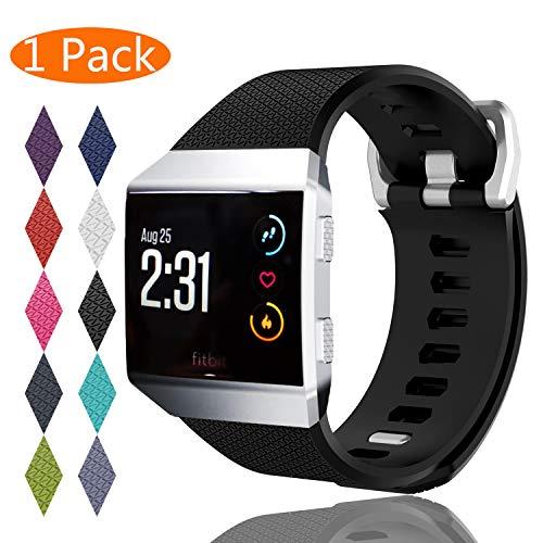 KingAcc Compatibile Fitbit Ionic Cinturini,Pacchetto Silicone Morbido Cinturino Sostitutivo per Fitbit Ionic,Fitness Cinturino da Polsino con Fibbia in Metallo