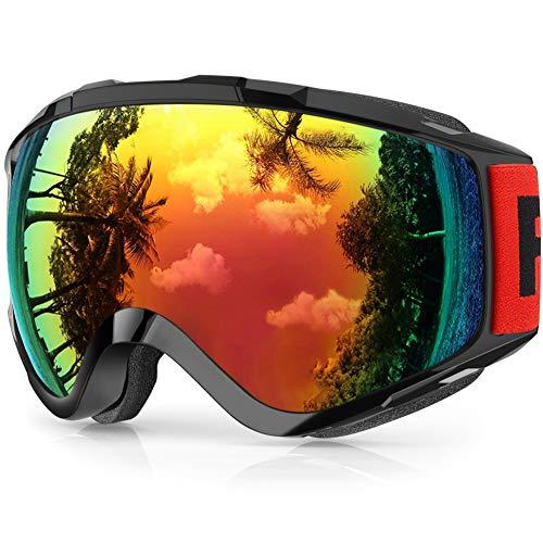 Maschera da Sci,Findway Occhiali da Sci per Uomo Donna Teenager OTG Maschere Sci Compatibile con...