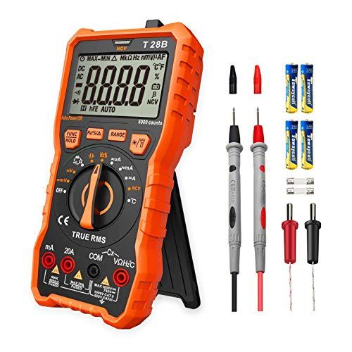 Digital Multimeter Messgerät,LOMVUM T28B 6000 Counts Auto Range Multimeter True RMS