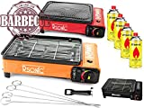 XXL Cuisinière de camping Cuisinière à gaz Portable cuisinière à gaz RS-4030 Barbecue au gaz Brûleur - cuisinière avec 4 cartouches